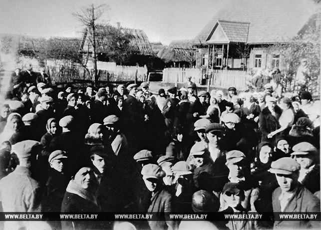 В день выборов в Народное собрание Западной Беларуси в Пружанах
