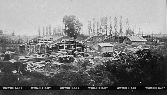 Строительство Бобруйского деревообрабатывающего комбината. 1928 год