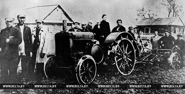 Первая в БССР машинно-тракторная станция (МТС). 1932 год