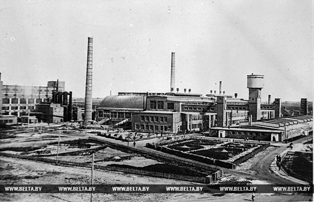 Панорама Гомельского стеклозавода имени Ломоносова. 1936 год