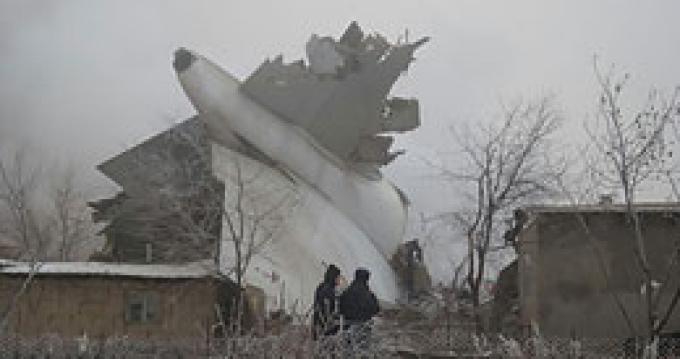 Крушение грузового самолета под Бишкеком