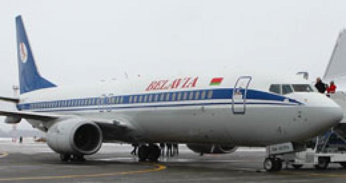 """Возврат самолета """"Белавиа"""" в Жуляны"""
