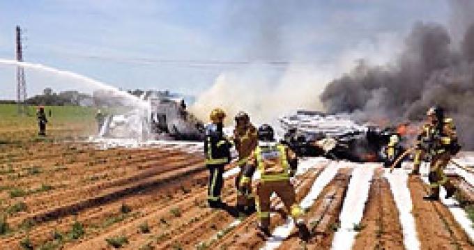 Крушение самолета в Севилье