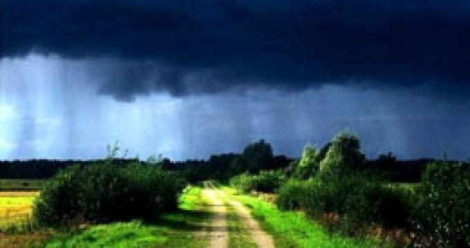 Дожди и грозы в Беларуси