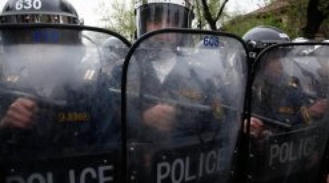 Захват здания полиции в Ереване