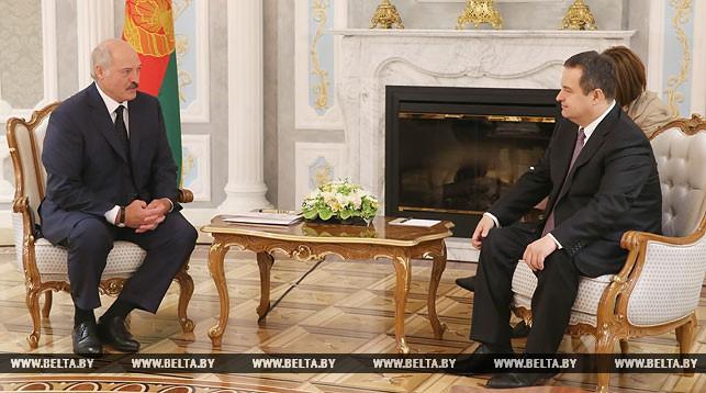 Александр Лукашенко и Ивица Дачич
