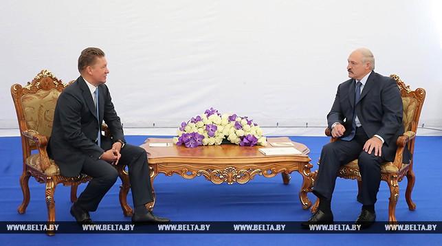 Алексей Миллер и Александр Лукашенко