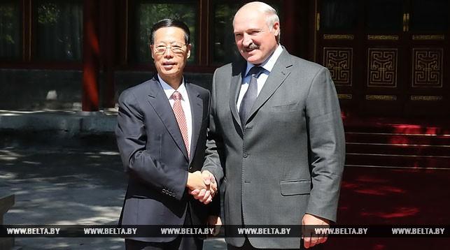 Чжан Гаоли и Александр Лукашенко
