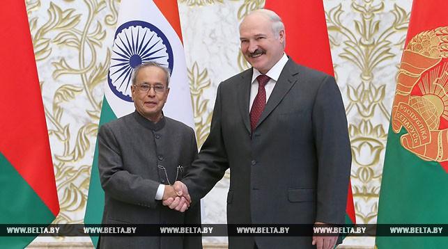 Пранаб Мукерджи и Александр Лукашенко
