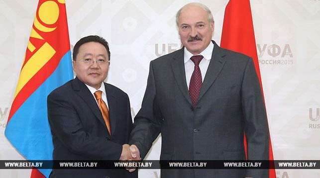 Цахиагийн Элбэгдорж и Александр Лукашенко