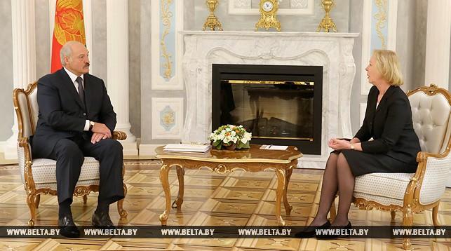Александр Лукашенко и Майра Мора