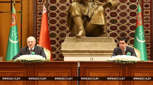 Александр Лукашенко и Гурбангулы Бердымухамедов