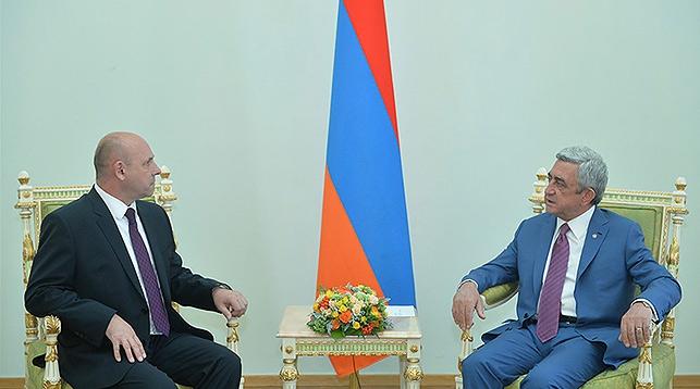 Игорь Назарук и Серж Саргсян. Фото с сайта president.am