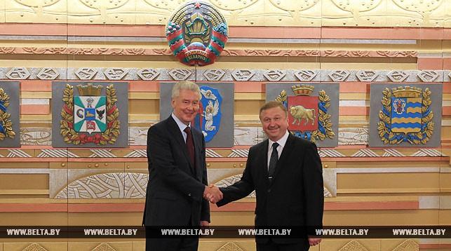 Сергей Собянин и Андрей Кобяков