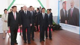 Во время посещения Китайско-белорусского индустриального парка