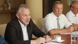 Михаил Орда на встрече с профсоюзным активом.
