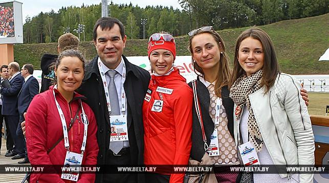 Национальная сборная Беларуси по биатлону и руководитель белорусской федерации биатлона Валерий Вакульчик