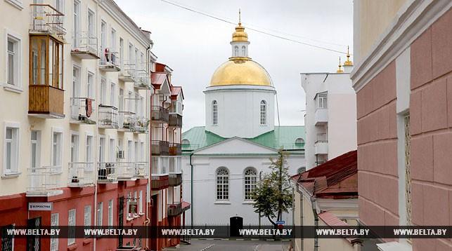 Вид на Богоявленский собор в Полоцке