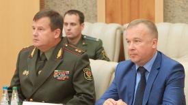Андрей Равков и министр спорта и туризма Беларуси Александр Шамко