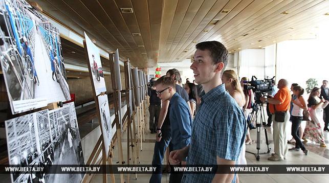 Во время открытия выставки