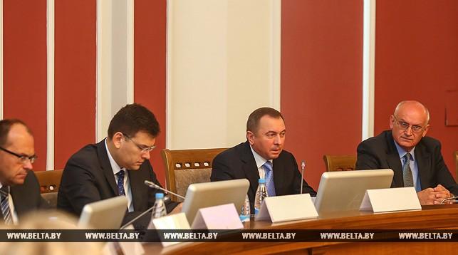 Во время заседания Консультативного совета по делам белорусов зарубежья.