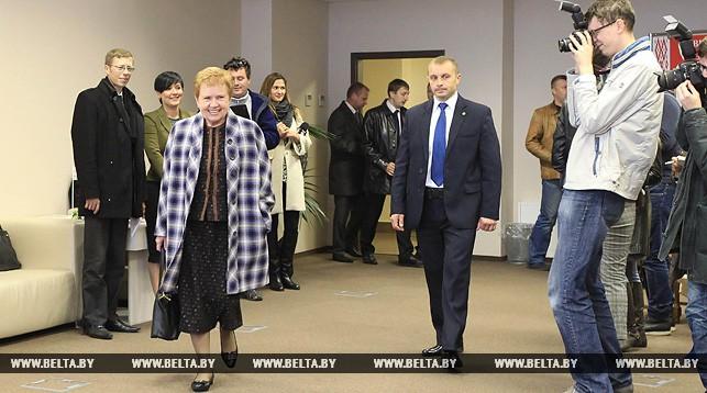 Лидия Ермошина на участке для голосования