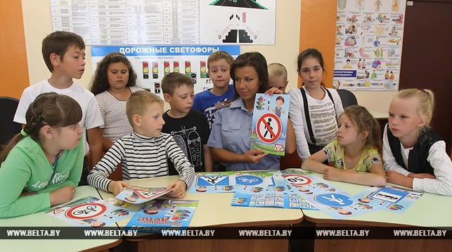 Во время занятий в Центре безопасности дорожного движения Московского района