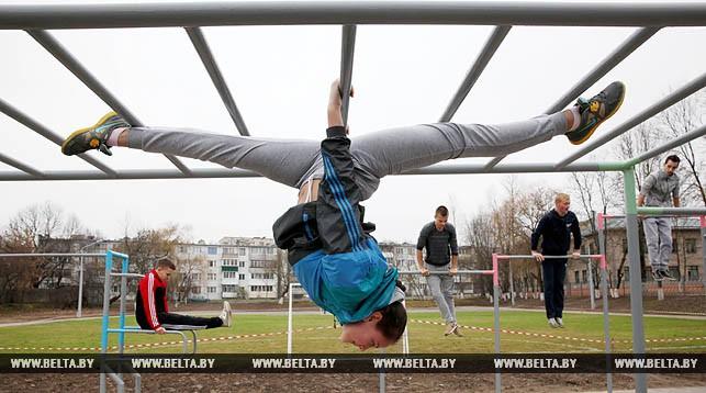 Уличная спортивная площадка для занятий воркаутом в Витебске