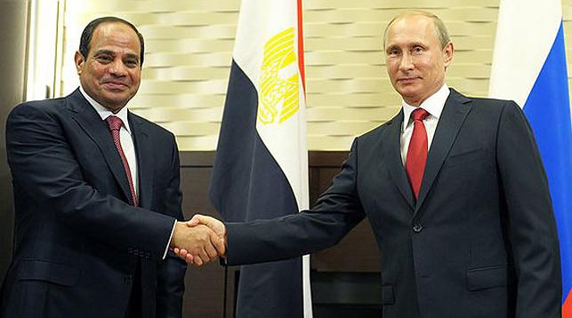 Абдель Фатах ас-Сиси и с Владимир Путин