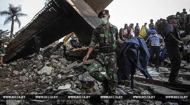 На месте авиакатастрофы. Фото Синьхуа - БелТА.