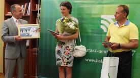Сергей Писарик, Татьяна Дроздовская, Сергей Морозов. Фото Беларусбанка