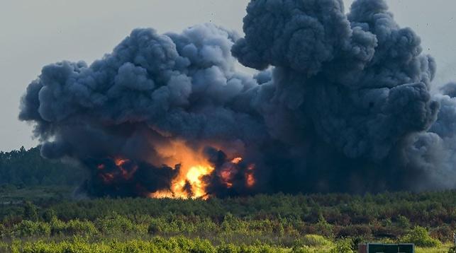 Взрыв на газопроводе Баку-Тбилиси-Эрзурум. Фото с сайта sputnik.az