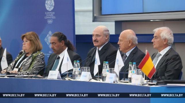 Александр Лукашенко на 45-м заседании Генеральной ассамблеи Европейских олимпийских комитетов
