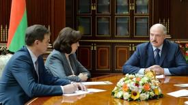 Максим Рыженков, Наталья Кочанова и Александр Лукашенко