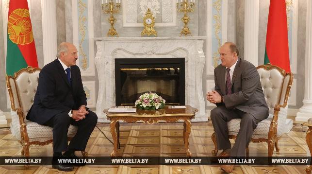 Александр Лукашенко с Геннадием Зюгановым