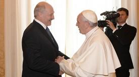 Александр Лукашенко и Папа Римский Франциск