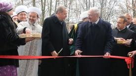 Реджеп Тайип Эрдоган и Александр Лукашенко перерезают символическую ленту