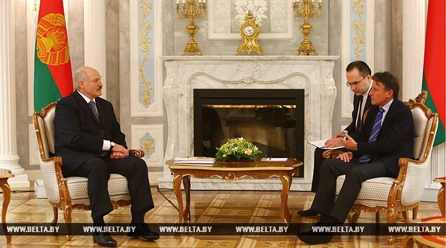 Александр Лукашенко и Себастьян Коэ