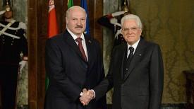 Александр Лукашенко и Серджо Маттарелла