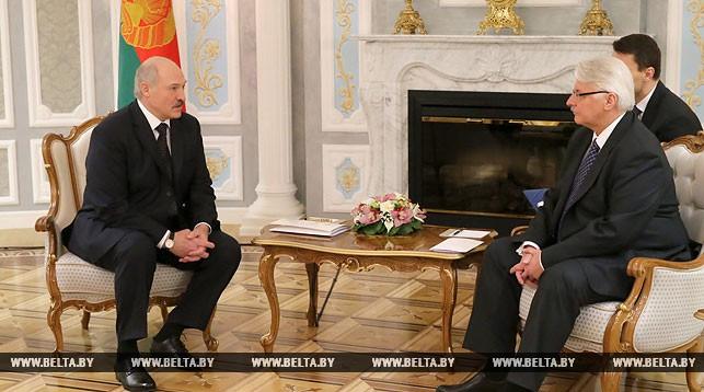 Александр Лукашенко и Витольд Ващиковский