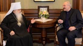 Митрополит Филарет и Александр Лукашенко. Фото из архива.