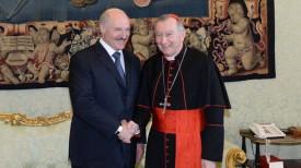 Александр Лукашенко и Пьетро Паролин