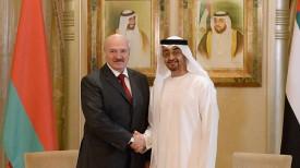 Александр Лукашенко и шейх Мухаммед бен Заид аль-Нахайян