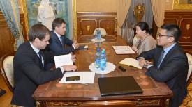 Во время встречи. Фото Посольства Беларуси в Росси