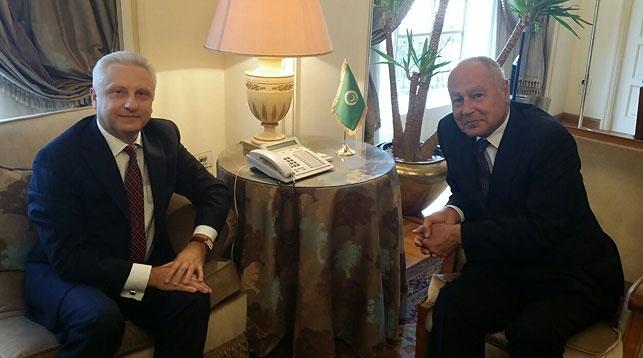 Сергей Рачков и Ахмед Абуль Гейт. Фото МИД