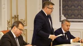 На совещании выступает Владимир Зиновский