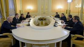 Во время встречи Андрея Кобякова и Дмитрия Медведева. Фото официального сайта правительства России