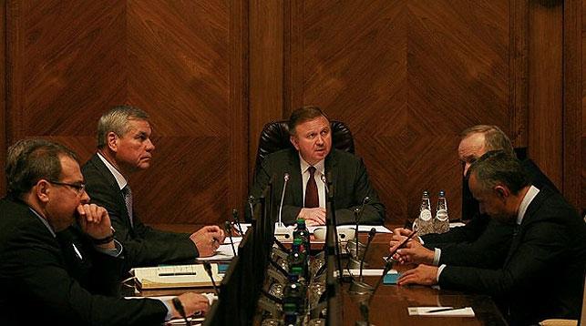 Во время заседания. Фото с официального сайта белорусского правительства