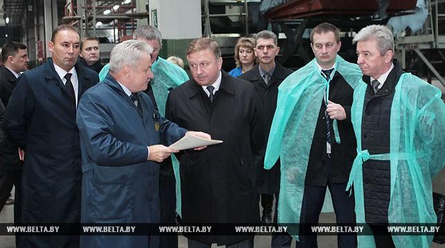 Фото во время посещения предприятия