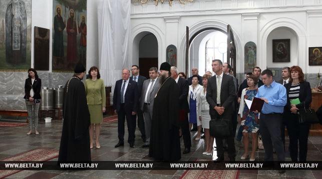 Во время посещения Жировичского монастыря